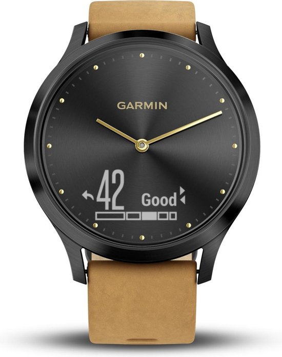 Garmin Vivomove HR Premium Hybrid Smartwatch - 43 mm - Bruin