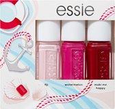 Essie Gifts By Nagellak Geschenkset - Lichtroze, Roze, Rood - 3 x 5 ml