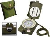 Militair Kompas - Inklapbaar Kaartkompas - Professioneel Metalen Kaart Kompas Met Kaartlezer - Outdoor - Survival -Scouting Met Opberg Etui - Voor Kinderen & Volwassenen - Waterproof