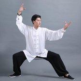 Fine Asianliving Tai Chi Kung Fu Schoenen Witte Zool Maat 42
