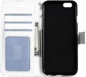 iPhone 5/5s/5SE Hoesje Wallet Case Bookcase Flip Hoes Leer Look - Wit