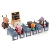 Peppa Pig Klaslokaal Met 7 Speelfiguren - Speelfigurenset