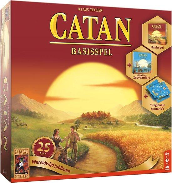 999 Games – Catan: 25 jaar wereldwijd jubileum Bordspel – vanaf 10 jaar – Een van de beste spellen van 2020 – Klaus Teuber – Modular board – voor 3 tot 4 spelers – 999-KOL52