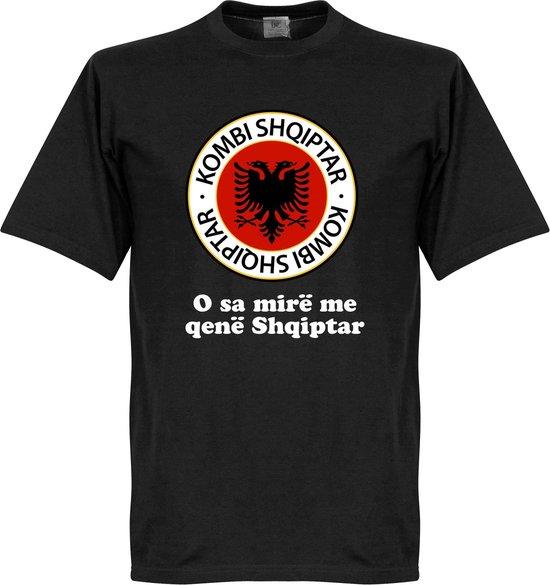 Albanië Logo Slogan T-Shirt - M