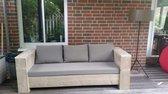 Steigerhout - loungebank 200x80 - oud steigerhout - zitdiepte 60 cm - geen bouwpakket