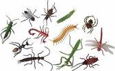 12x Plastic insecten - Nep insecten - Speelgoed dieren van kunststof