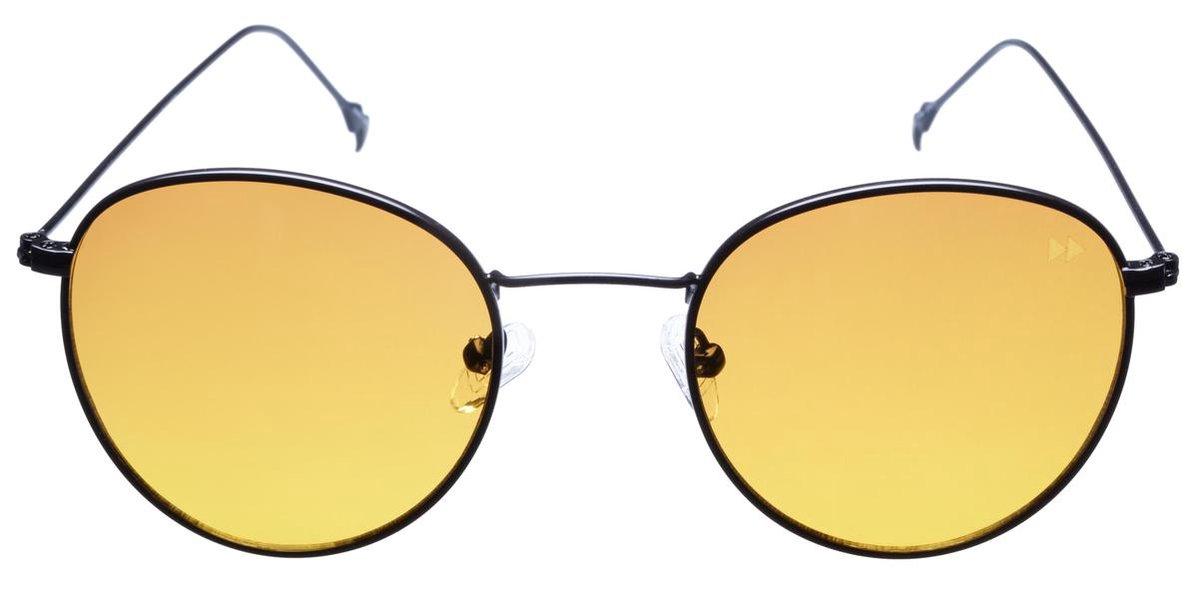 Sunheroes Zonnebril IL CAPO - Mat Zwart montuur - Oranje glazen