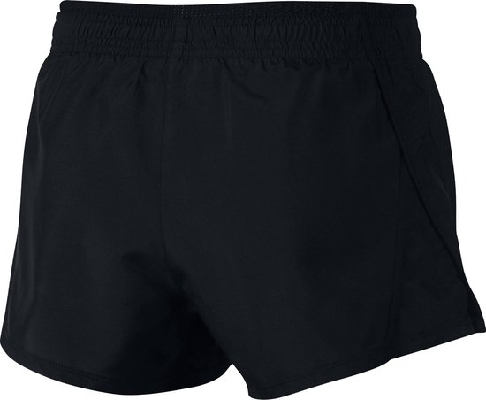 Nike 10K Short Sportshort Dames - Black/Black/Black/Wolf Grey - Maat L