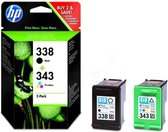 HP 338 / 343 Inktcartridge - Zwart