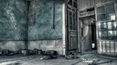 Glasschilderij verlaten gebouw 80x160