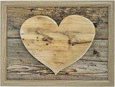 Schootkussen/laptray hart houtprint 43 x 33 cm - Schoottafel - Dienblad voor op schoot