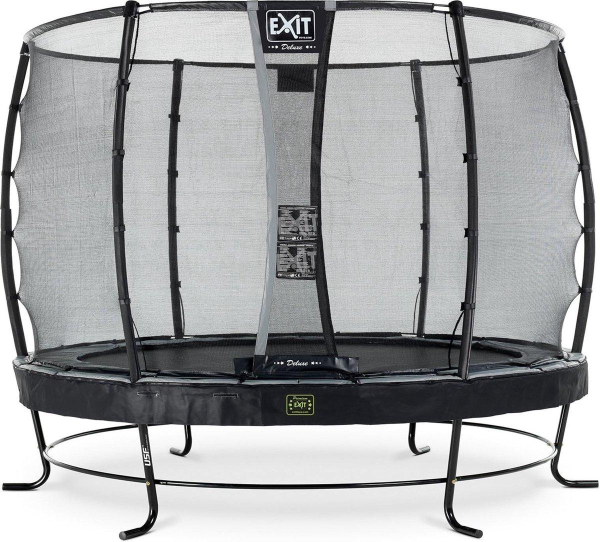 Trampoline EXIT Elegant Premium - ø305cm - zwart + net