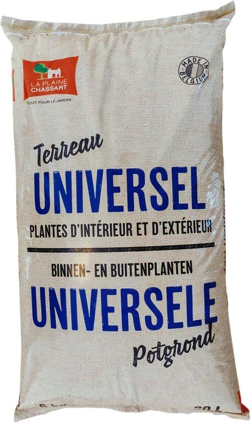 La Plaine Chassart - Universele Potgrond 20L - Oppotten van alle Soorten Binnen en Buitenplanten - Tuin, Terras, Balkon, Moestuin - Groene of Bloeiende Planten, Cactussen, Citrus, ...