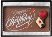 Weible Chocolade 'happy birthday' tablet - 7 x 13 cm
