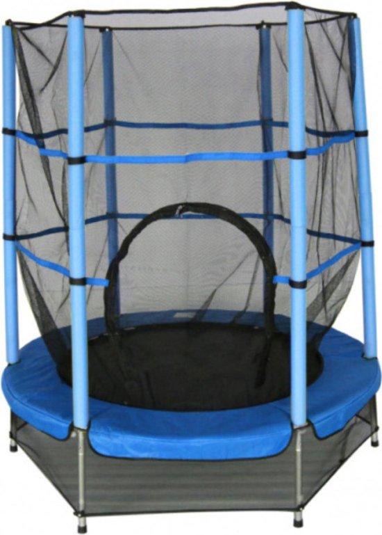 Amigo Trampoline - met veiligheidsnet - Blauw - 139cm - op poten