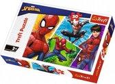 Spiderman Puzzel - 30 puzzel stukjes - Marvel vanaf 3 jaar