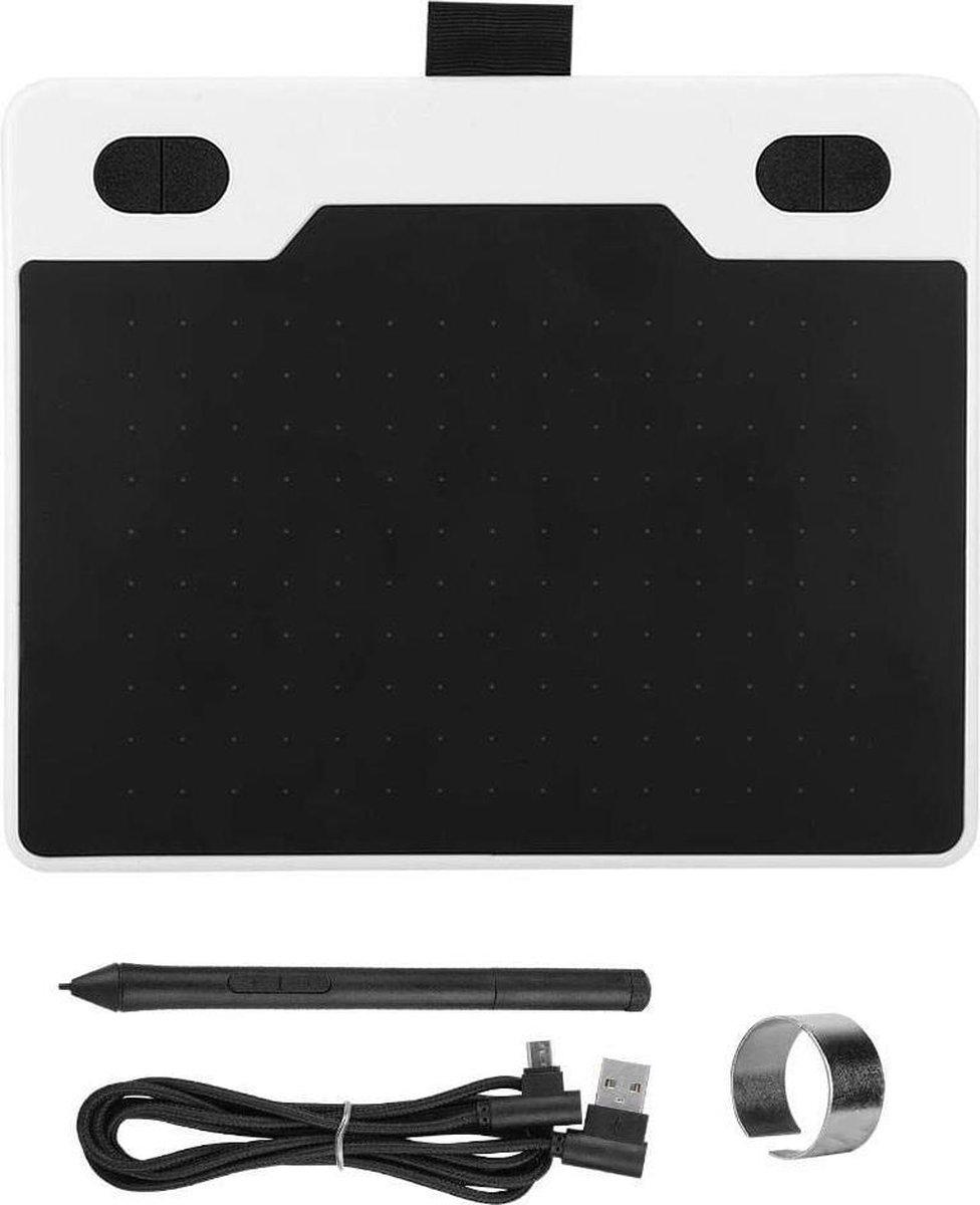 DrPhone M10 Tekentablet - Grafische Design - Micro USB - Ultralicht - Incl. Pen - Wit