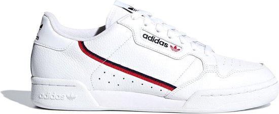 adidas Continental 80 Heren Sneakers - Ftwr White/Scarlet/Collegiate Navy -  Maat 46