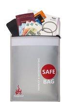 Hittebestendige zak - Brandzak - Veilige Documentenhouder – Vuurzak - Geldzak - Brandvertragende LiPo Bag – Qwality