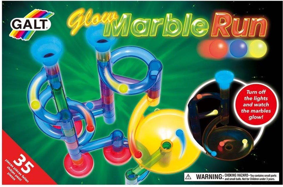 Galt Knikkerbaan Marble Run Glow Kunststof - 35-delig