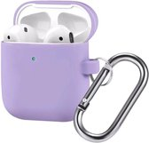 AirPods Hoesje - Siliconen Case - Airpods 1/2 Hoesje - Paars - Purple