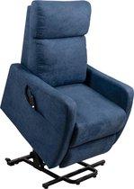 Elektrische relax en sta op stoel verrijdbaar blauw F-101
