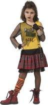 Punk & Rock Kostuum   Punk Petra   Meisje   Maat 164   Carnaval kostuum   Verkleedkleding