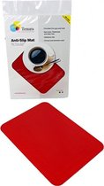 Able2 Anti-slip mat rechthoekig - rood