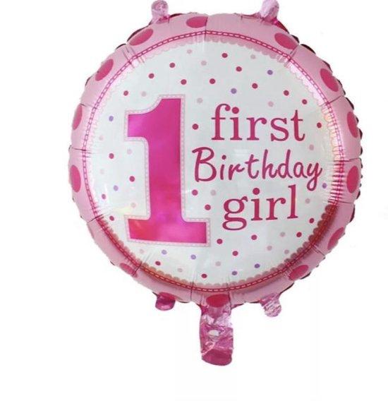 First - Birthday Girl  Ballon -Helium-Lucht- 18 inch