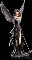 Elfen beeld gothic met zeis zwart 59x31x27.5