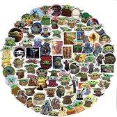 100 Baby Yoda stickers - Sticker pack voor laptop, muur, skateboard etc.