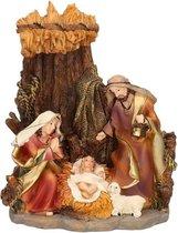 Religieus beeldje van het heilige gezin 16 cm - Jezus / Maria / Jozef - Kerst decoratie / kerststal