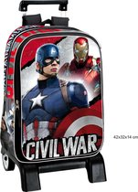 The Avengers koffer/trolley. 43cm Top kwaliteit! Captain America & Ironman