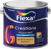 Flexa Creations - Muurverf Zijde Mat - Mengkleuren Collectie - 100% Zandstrand  - 2,5 liter