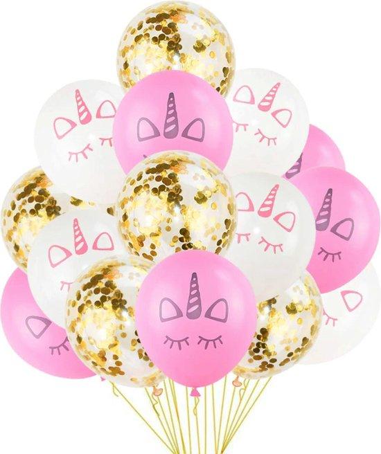 Sens Design - Unicorn ballonnen eenhoorn ballonnen 15 stuks - goud