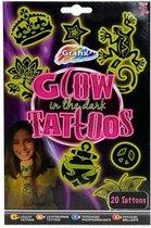 Plaktattoos Glow in the Dark voor Kinderen - Meisjes Tattoos