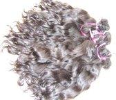 """RealHairExclusive LETOP PRIJS =PER1BAAN Wavy/golvend natuurlijk gekleurde handgemaakte weave - Kleur: Natuurlijk bruin, Lengte: 12"""" (30cm)"""
