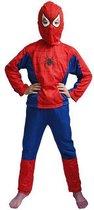 WiseGoods - Spiderman Pak - Verkleedpak Jongens - Verkleedkleding - Kinderkostuum - Kind 4-5 jaar - 104-110 - Rood / Blauw