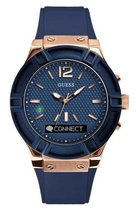 GUESS Connect - Smartwatch - Blauw - 45mm
