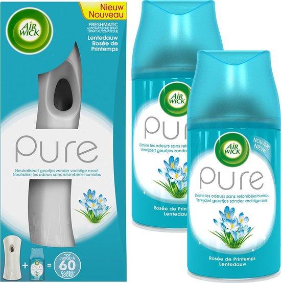 Air Wick Freshmatic Automatische Spray Luchtverfrisser - Pure Lentedauw - Starterkit + 2 Navullingen - Voordeelverpakking