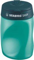 STABILO EASYsharpener - Ergonomische 3 in 1 Puntenslijper - Rechtshandig - Petrol - Geschikt Voor Alle Potloden