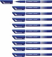 STABILO SENSOR Fineliner 0,3 mm Blauw - Doos 10 stuks