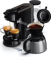 Philips Senseo Switch Premium HD6596/20 - Koffiepadapparaat & Thermoskan - Zwart/Hout