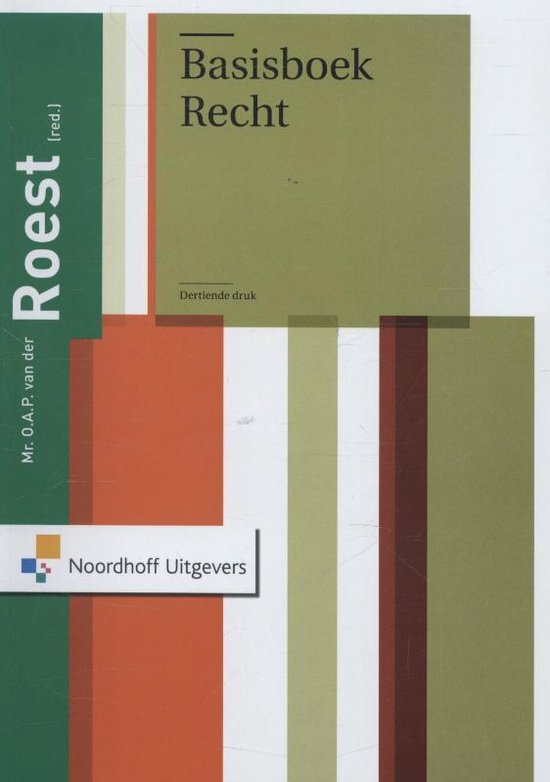 Cover van het boek 'Basisboek recht'