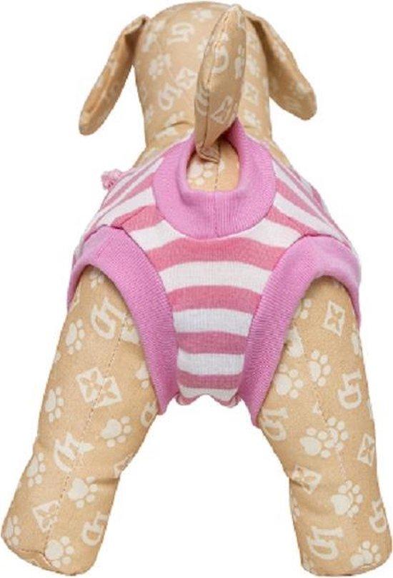 Loopsheidbroekje - roze gestreept - maat L