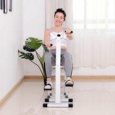 Bewegingstrainer  - Hometrainer Senioren Fiets Trainer - Revalidatie Bewegingstrainer Voor Benen & Armen - Stoelfiets - Pedaaltrainer Indoor Fitness Bike - Zwart