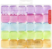 Kikkerland Herbruikbare ijsblokjes (set van 30) - Ijsblokjesvorm - Kleur