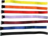 Velcro straps Zwart