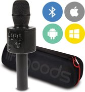 LifeGoods Bluetooth Karaoke Microfoon - Draadloos met HiFi Speaker Box - Set voor Android/iPhone/Apple - Zwart
