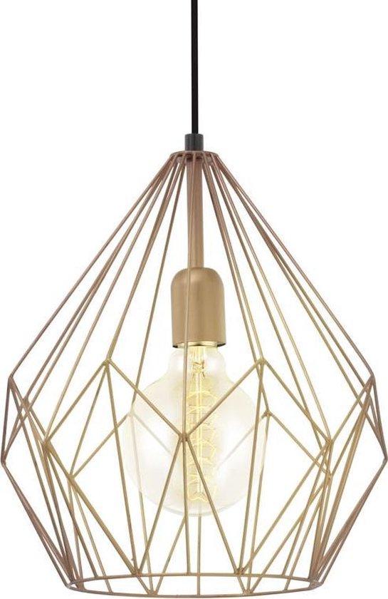 EGLO Vintage Carlton - Hanglamp - 1 Lichts - Ø310mm. - Koperkleurig